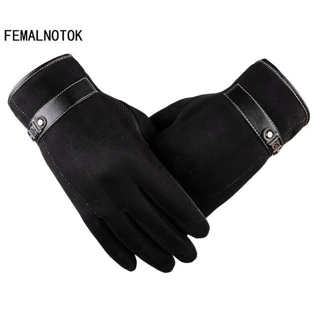 bfd59596465 US $12.33  Luxe suede handschoenen mannen hoge kwaliteit merk designer soft  lederen handschoenen mode warme winter handschoenen in Luxe suede ...