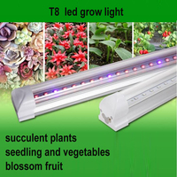 6pcs Free Shipping 110 220V AC Plant Glrowth T8 Tube LED Grow Light RED BLUE Color