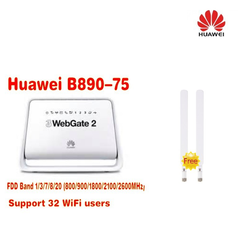 Lot of 2pcs white color Huawei B890 (B890-75) 4G LTE FDD100M Wireless WiFi Router+ 2pcs B890 4G antenna 2pcs lot ncp81101bmntxg ncp81101b 81101b