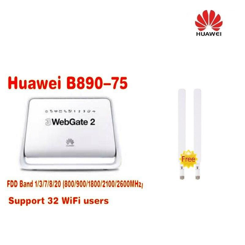 Lotto di 2 pz colore bianco Huawei B890 (B890-) 4G LTE FDD100M Wireless Router WiFi + 2 pz B890 4G antennaLotto di 2 pz colore bianco Huawei B890 (B890-) 4G LTE FDD100M Wireless Router WiFi + 2 pz B890 4G antenna