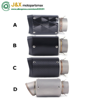 61mm Slip On Motorcycle Exhaust Muffler for BMW S1000RR CBR1000 CBR1000RR or Other 61mm Big Power Motorcycle
