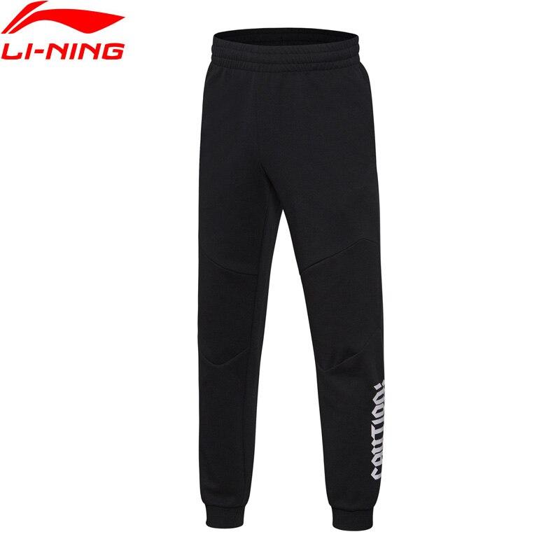 Li-Ning Men BAD FIVE Basketball Sweat Pants Regular Fit Breathable 82% Cotton 18% Polyester LiNing Sports Pants AKLN001 MKY347