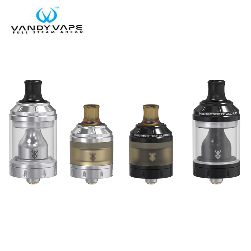 Original Vandy Vape Berserker 24 MTL RTA Tank 2ML To 4.5ML Top-filling Easy to Build Berserk E Cigarette Atomizer Tank дрипка vandy vape govad advanced airflow rda 24мм черная