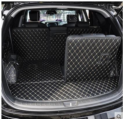 Full Set Car Trunk Mats For Hyundai Grand Santa Fe 7 Seats 2018-2013 Waterproof Boot Carpets Cargo Liner For Grand Santafe 2016