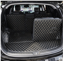 Best & Free shipping!Special trunk mats for Hyundai Grand Santa fe 7seats 2017-2013 waterproof durable carpets for Grand Santafe
