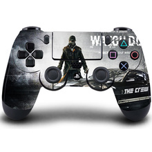 PS4 Controller Skin Watch Dogs Protective PVC HD Sticker Cover For Sony Play Station 4 Wireless Controller Accessory