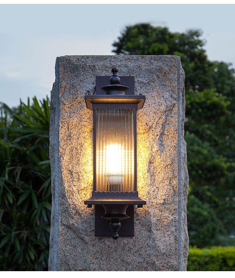 impermeável ao ar livre lâmpada do jardim