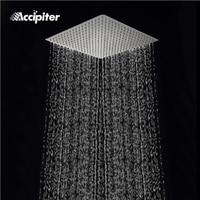 Square Stainless Steel Showerhead Rainfall Shower Head Rain Shower Chrome high pressure chuveiro bath faucet ducha