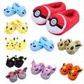9 estilo de Los Niños lindos suaves Zapatillas de felpa anime Bola Elf Pikachu Flareon Glaceon Eevee Sylveon Umbreon Casa Casa de Invierno Zapatos