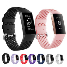 Sport Silicone strap for fitbit charge 3 band bracelet Smart watch replacement soft Watch wristblet