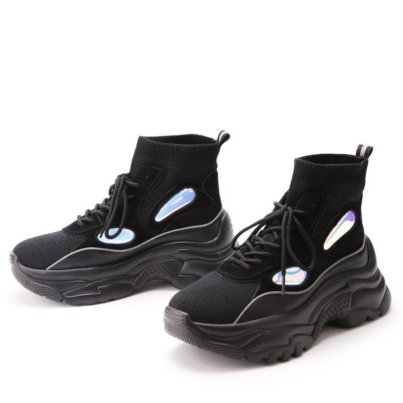 Malla De Negro Calcetines Zapatos Mujeres Creativo Las blanco Zapatos Transpirable Otoño Coreano Casuales 2018 Raxwadq