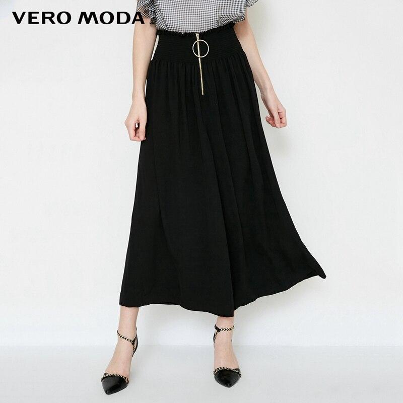 Vero Moda Elastic waist zipper wide-leg   Capri     pants   |31826J508