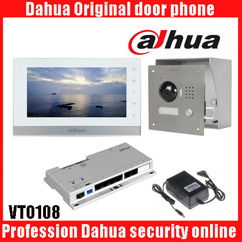 Original 7 Inch Touch Screen Dahua DH-VTH1550CH Color Monitor with TO2000A outdoor IP Metal Villa Outdoor Video Intercom system 7 inch video doorbell tft lcd hd screen wired video doorphone for villa one monitor with one metal outdoor unit night vision