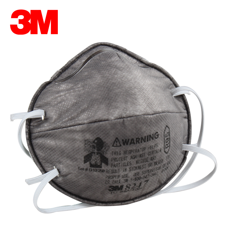 3M 8247 Protective Mask 10pcs Lot Against Formaldehyde PM2 5 Fog Mask R95 Respiratory Disposable Mask
