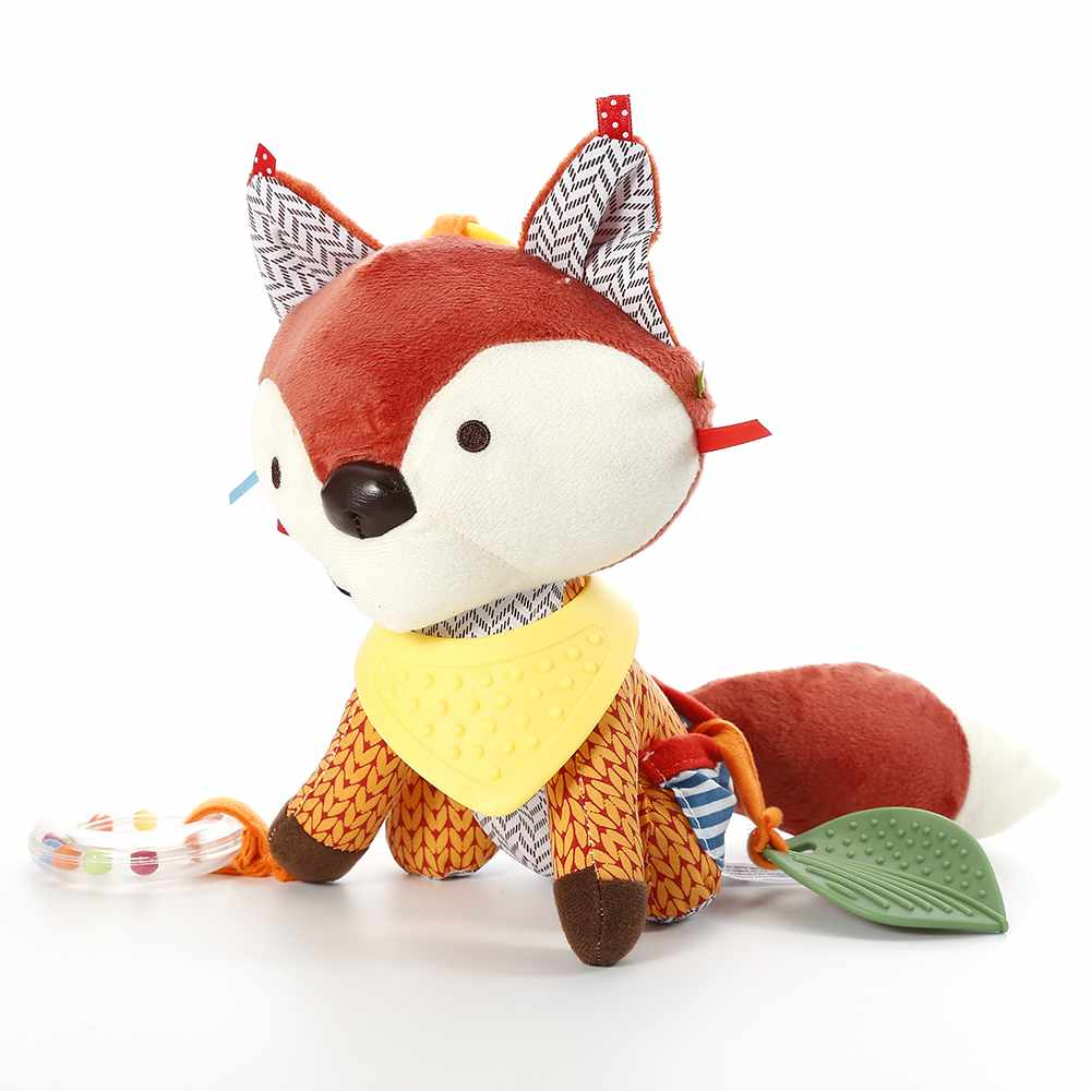 1* Baby Infant Soft Plush Stroller Toy Fashion Cute Fox Bed Car Bell Hanging Toy cute lovely baby bed around baby stroller hanging dolls bell rattle mobile musical plush infant toys gifts xmas toy for kids
