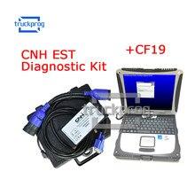 Para cnh est kit de diagnóstico nova holland caso ferramenta de diagnóstico com cf19 portátil v9.2 nível engenharia caminhão cnh trator diagnóstico