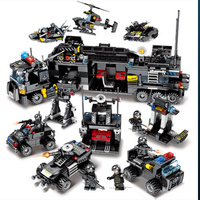 City Police Swat Ship Helicopter Truck Armored Car Building Block Compatible Legoings Weapons Guns Bricks Toy For Child Gifts
