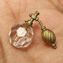 Hot Mini Cute 1/12 Dollhouse Miniature Bathroom Bedroom Transparent Perfume Bottle Dresser Accessories Kids Toy(China)