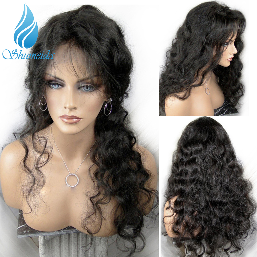 SHUMEIDA Brazilian Body Wave 13 3 Lace Front Wigs for Black Women Remy Human Hair Wigs