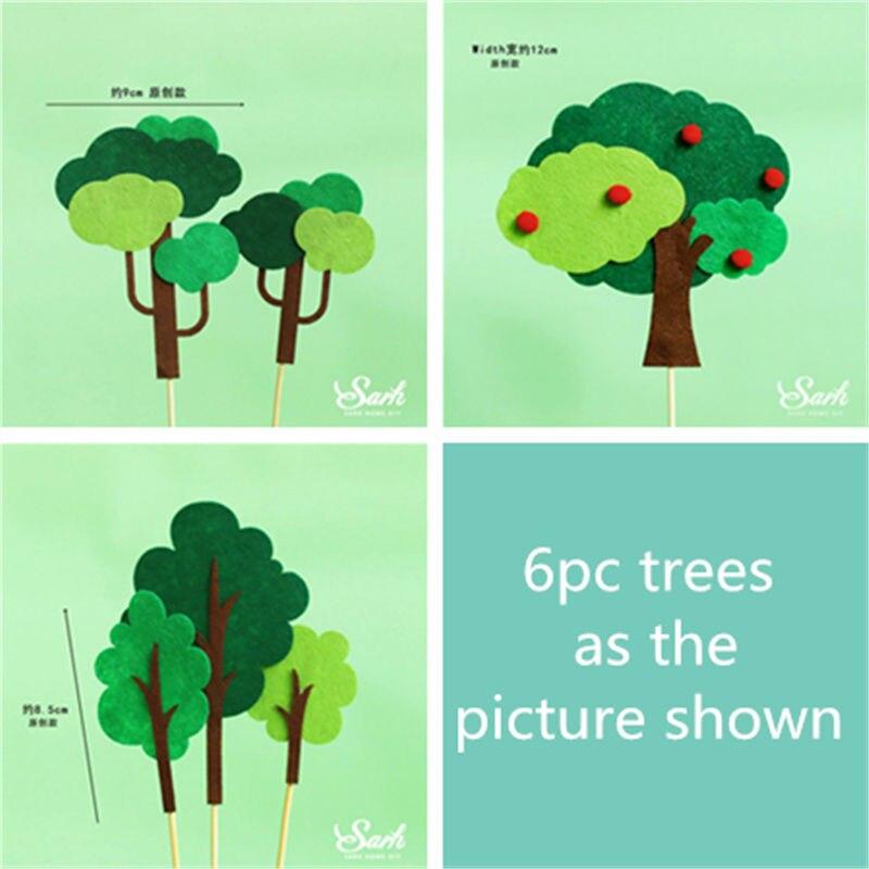 9pc felt trees set B