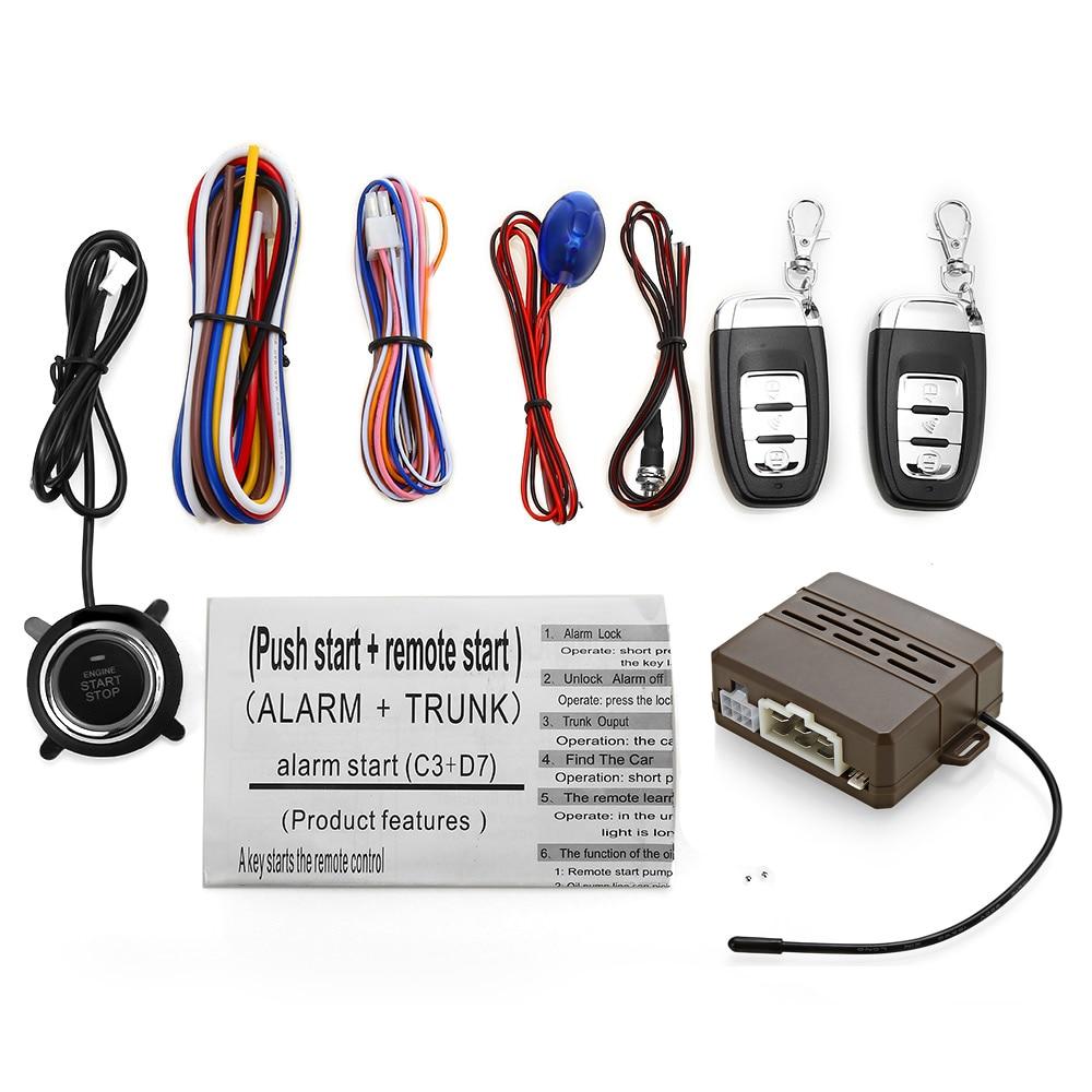 Универсальный 12 В автомобиля Anti-theft Системы авто дистанционного Центральный замок без ключа звуковой визуальной сигнализации один ключ зап...