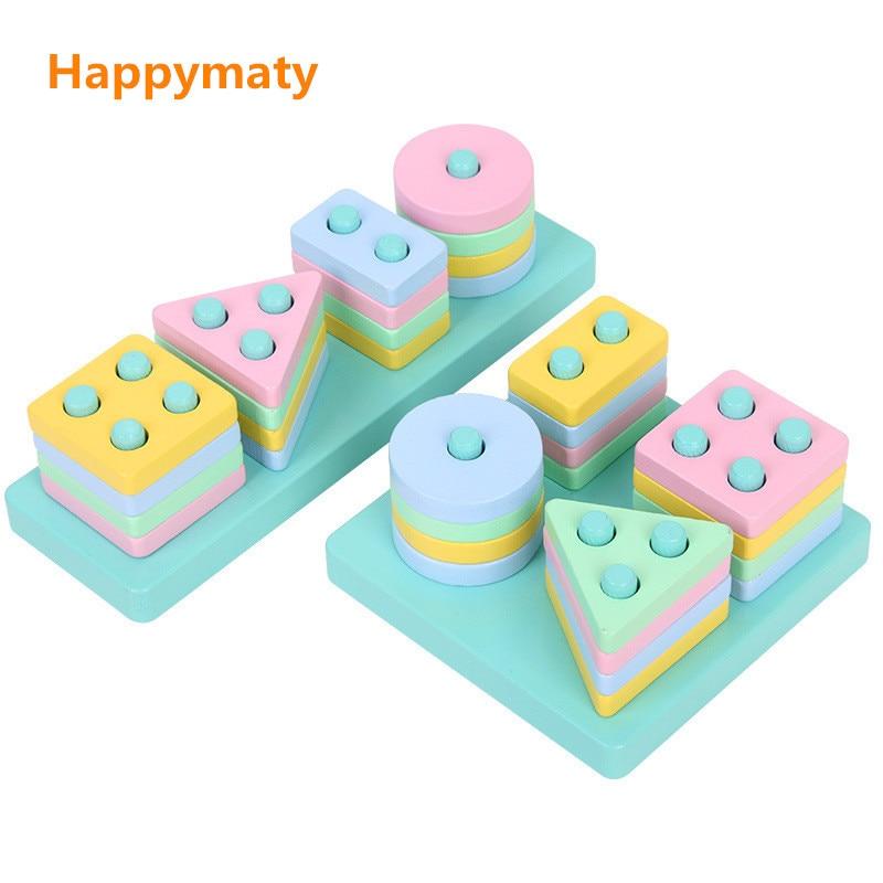 Systematisch Baby Spielzeug Montessori Geometrische Sortierung Bord Blöcke Holz Spielzeug Für Kinder Makronen Pädagogisches Spielzeug Bausteine Spalte Geschenk Krankheiten Zu Verhindern Und Zu Heilen