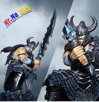 New Hot Action Figure Toys 25cm The Barbarian King Tryndamere Cool Christmas Gift Doll