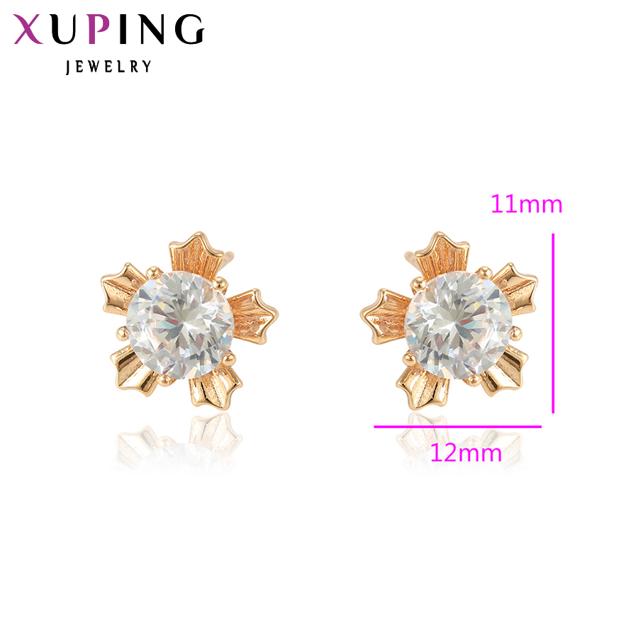 Xuping Elegant Earring New Design Gold Gold Plated Brand Fashion - Bisutería - foto 2