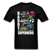 Newest Marvel Endgame Superhero Comic Tshirt Hulk Ironman Spider Man Hero T Shirt Men Daddy You Are My Favorite Superhero Cotton