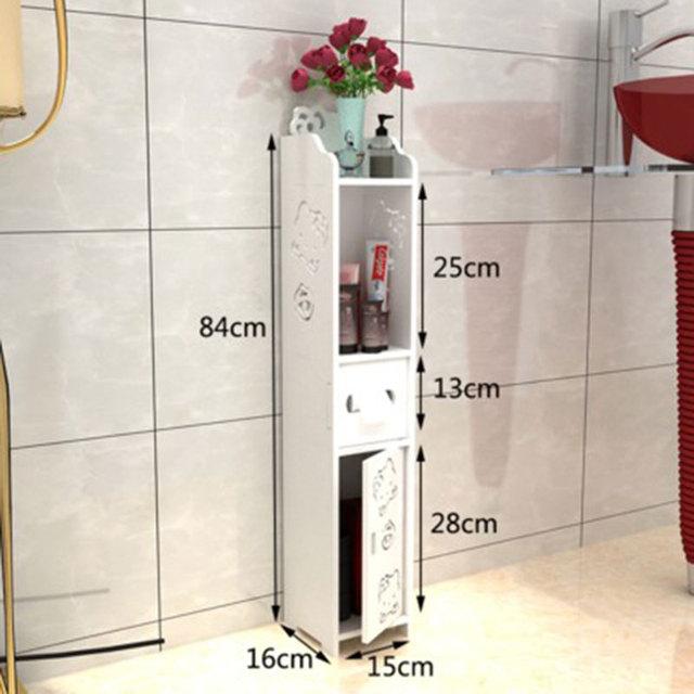 Modern Fashion Bathroom Vanity Floor Standing Storage Cabinet Washbasin Shower Corner Shelf Plants Rack