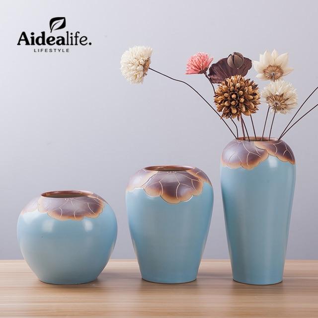 Chinese Blue Vase Jingdezhen Ceramics Home Decoration Accessories
