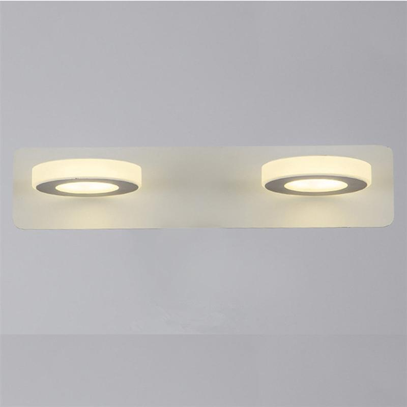 Led 10W Acrylic Round Bathroom Make Up Mirror Wall Light Moden LED Bath Wall Sconces Lamp For Home Bath Wall Sconces Light traditional classic metal silvery electroplating led bathroom mirror light led wall lamps light wall sconces 1 light ac