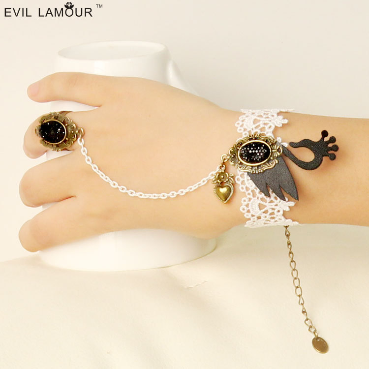 Womens Lace Bracelet DIY Lace Arm Bracelet for Women Arm Bangles Fashion Summer Girl Jewelry Handmade Gothic Jewelry AT-40