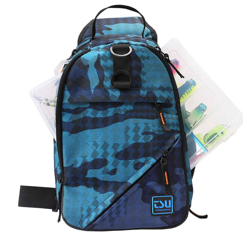 Image 2 - TSURINOYA многофункциональная сумка для рыбалки Водонепроницаемая наружная 750D нейлон 32*21*9 см рыболовное снаряжение рюкзак Mochila De Pesca Sac Peche-in Сумки для рыбалки from Спорт и развлечения