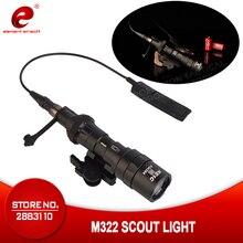 Elemento airsoft tático lanterna surefir m600c lâmpada de caça rifle scouting arma luz ex442