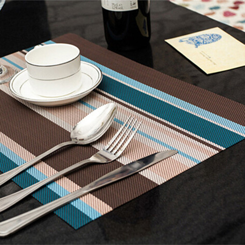Dining Table Placemats Pvc Mat Placement Waterproof Coaster Heat Insulation Dish Cup Place Mat Pad Kitchen Accessories For Table & Dining Table Placemats Pvc Mat Placement Waterproof Coaster Heat ...