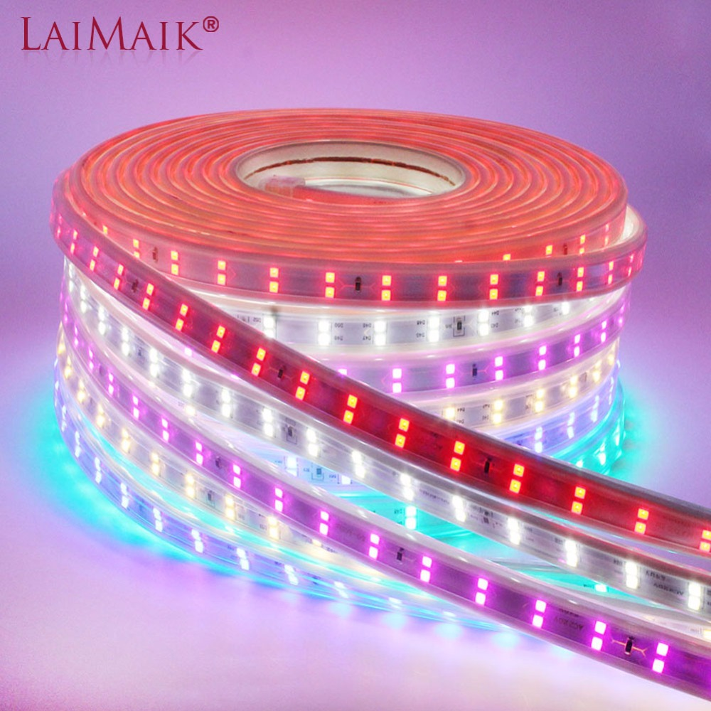 LAIMAIK Led Strip Light Super Brightness Double Row Led strip 220V 240v 2835 SMD 120Leds/m Waterproof flexible LED tape lights