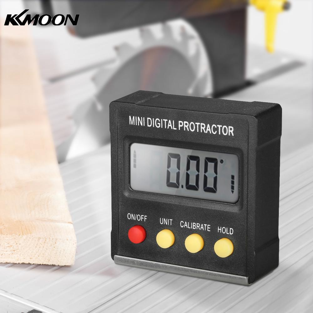 360 Degree Mini Digital Protractor Inclinometer Electronic Level Box Magnetic Base Measuring Tools mini digital protractor inclinometer box electronic level box magnetic base measuring tools with gift pouch