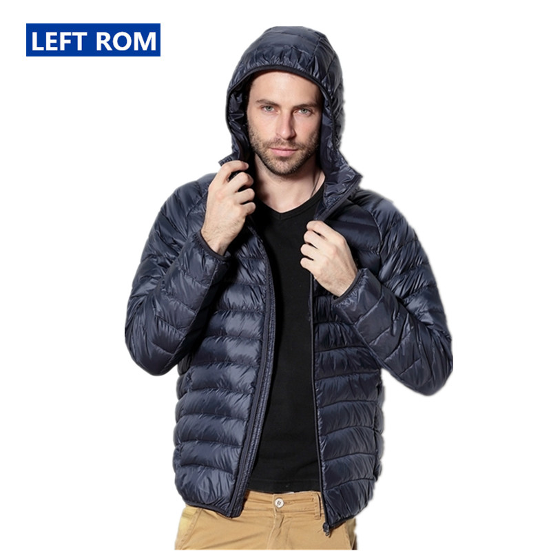 Left ROM Autumn And Winter Men's Fine Quality Thin and Light Casual Hooded   Down   Jackets Premium Brand Comfortable Men   Down     Coats