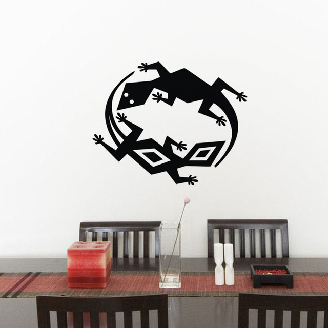 Double Lizards Wall Stickers Decor In The Nursery PVC Removable Wall ...