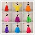 Múltiples Color Simples de Las Mujeres Falda Larga hasta el Suelo 100 cm 2016 Accesorios de La Boda enagua de Tul de Las Mujeres Una Falda de Línea