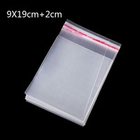 200Pcs 9 19cm Clear Plastic Packaging Bags Poly OPP Small Cello Cellophane Bag For Gift Packing