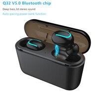 V5.0 Мини блютуз наушники гарнитуры глубокий бас HD настоящее стерео беспроводные наушники bulit-микрофон СПЦ наушники для iPhone, Android