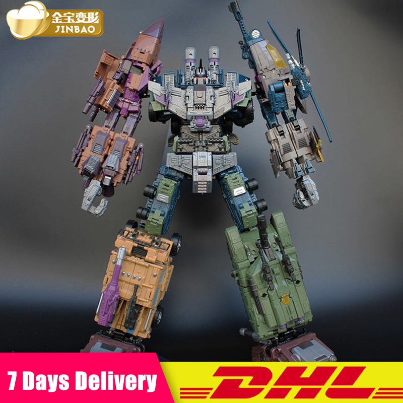 Jinbao Oversized Bruticus Warbotron Onslaught Brawl Swindle Blast Off MMC PREDAKING Figure Transformation Robot Collection Toy
