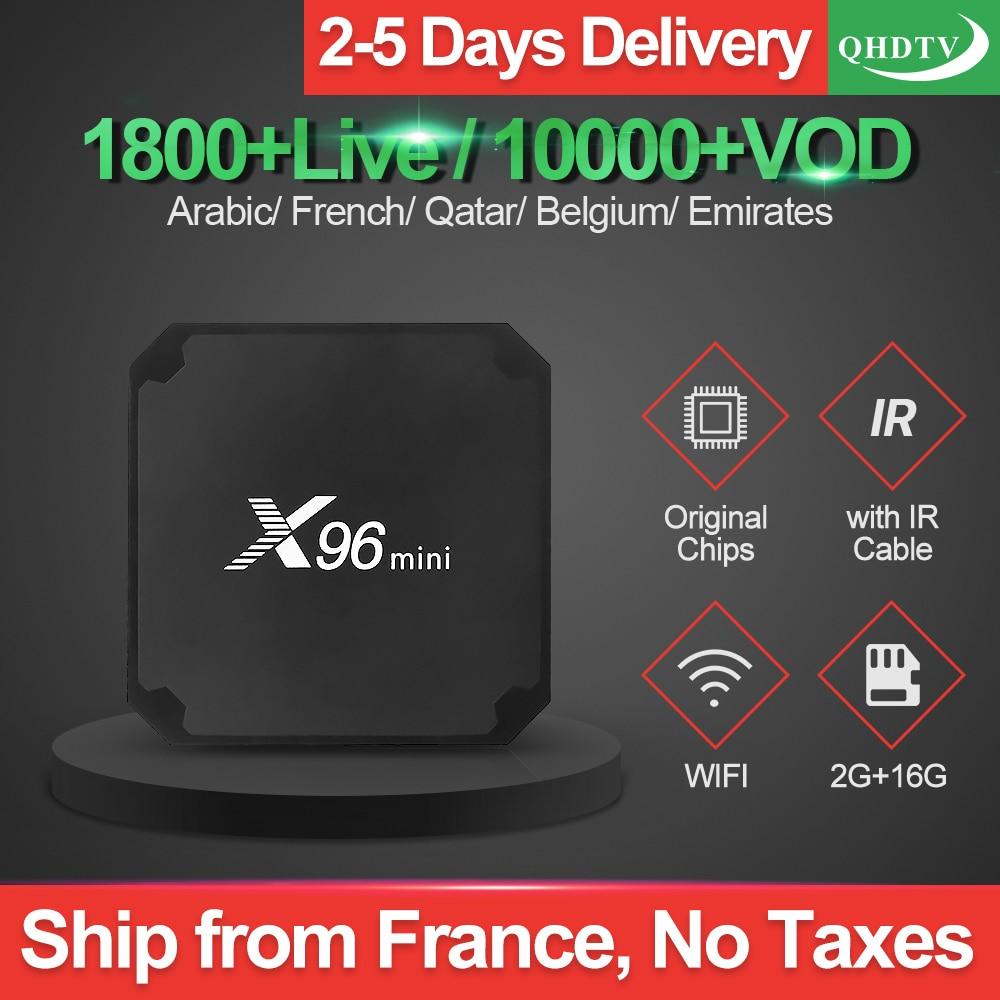 IPTV Arabic France X96 MINI TV Box Android 7 1 Smart QHDTV IPTV Abonnement Channels Spain