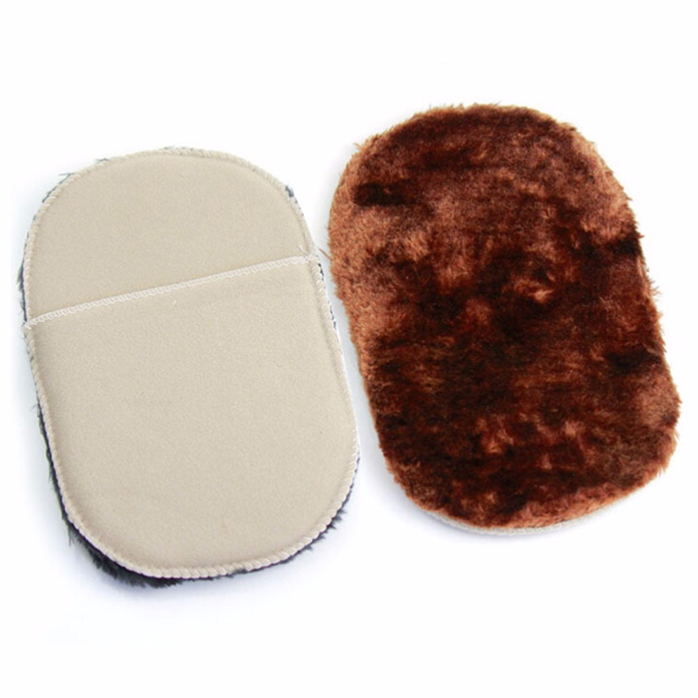 1Pcs Random Colors Soft Wool Polishing Shoes Clean Cleaning Gloves Shoe Care Brush Wipe Shoes Mitt Wholesale in Shoe Brushes from Home Garden
