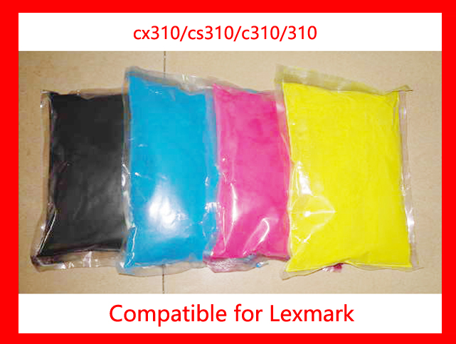 High quality color toner powder compatible Lexmark cx310/cs310/c310/310 Free Shipping high quality color toner powder compatible hp cm8060 free shipping