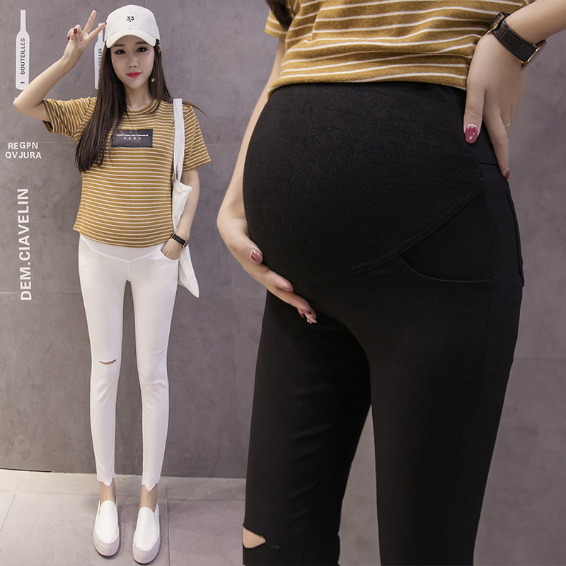 Maternity Pencil Pants for pregnant Skinny leg pregnancy clothes maternity clothes clothing leggings for pregnant summer wear