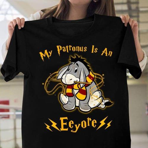 c7a47cf2ff3 My Patronus is An Eeyore T Shirt Black Cotton Men Cartoon t shirt men  Unisex New