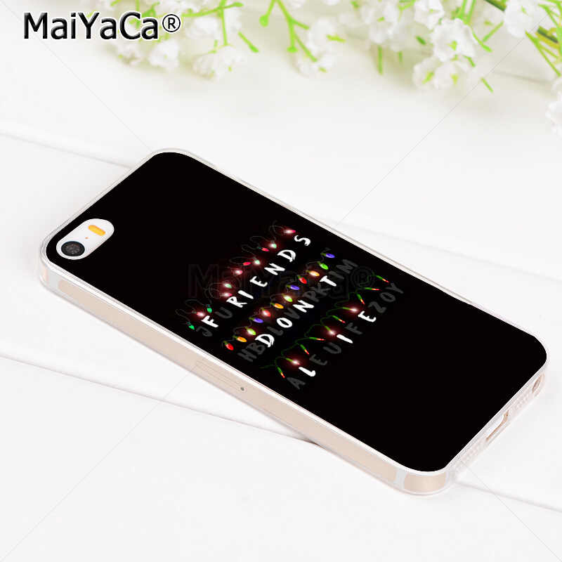 MaiYaCa Straniero Cose Luci Di Natale molle del telefono di tpu della copertura di caso per il iPhone X 6 6s 7 7 più 8 8 più di 5S 11 11pro max caso coque